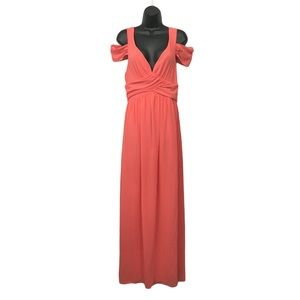 NEW Filly Flair Coral Maxi Formal Gown M